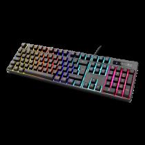 Klaviatūra DELTACO GAMING mechaninė, UK, RGB, juoda / GAM-075-UK