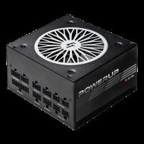 Chieftec PowerUp series 650 W PSU, 80+ gold, ATX 12V ver 2.53, maitinimo šaltinis, juodas / GPX-650FC