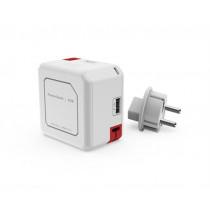 Išorinė baterija ALLOC 5000mAh, 4x USB, 1x Micro USB, balta, 44-9402 / GT-619