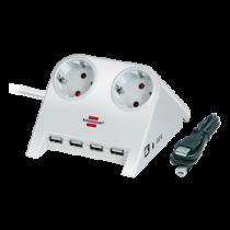 Brennenstuhl Desktop Power, prailgintuvas USB Hub, 2xCEE 7/4, 1xCEE 7/7, 1.8m, Baltas1153520122 / GT-665