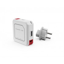 USB šakotuvas ALLOC su įkrov., 4x USB, 1x Micro USB, baltas, 44-9302 / GT-669