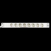 DELTACO maitinimo panelė 8xCEE 7/4 socket, 1xCEE 7/7, balta GT-8629W
