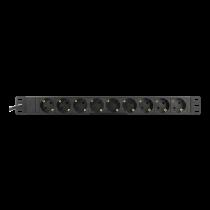 Ilgiklis DELTACO 9xCEE 7/4, 1xCEE 7/7, 3m, juodas / GT-8634