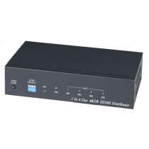 HDMI komutatorius Deltacoimp 3840x2160, 60Hz, HDMI 2.0, HDCP 2.2, juodas/ HD04-4K6G