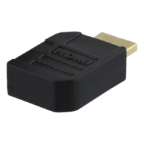 DELTACO HDMI adapteris, 19-pin male to female, kairieji kampuočiai, auksu dengtos jungtys DELTACO / HDMI-21A