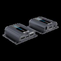 HDMI Komutatorius per tinklo kabelį, prailgina HDMI signalą 1080p esant 60 Hz iki 40 m, EDID, palaiko PoE į maitinimo imtuvą iš siųstuvo, IR, juodas / HDMI-270