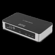 DELTACO PRIME Premium 3 prievadų HDMI komutatorius su IR belaidžiu nuotolinio valdymo pultu HDMI-7026