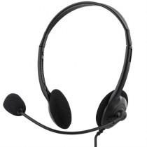 Ausinės su mikrofonu DELTACO, 2m, juodos / HL-2