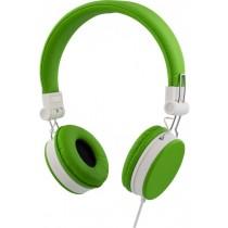 Ausinės STREETZ ant ausų, sulenkiamos, su mikrofonu, žalios / HL-223