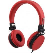 Ausinės STREETZ ant ausų, sulenkiamos, su mikrofonu, raudonos / HL-226