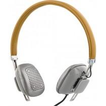 Ausinės STREETZ, ant ausų, su mikrofonu, rudos/sidabrinės / HL-261