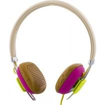 Ausinės STREETZ, ant ausų, su mikrofonu, baltos/rožinės / HL-262