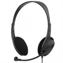 Ausinės DELTACO, ant ausų, su mikrofonu, juodos / HL-43