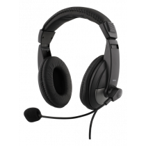 Ausinės DELTACO su mikrofonu, juodos / HL-50