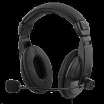 Ausinės DELTACO su mikrofonu, 96dB, juodos / HL-57