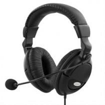 Ausinės DELTACO, ant ausų, su mikrofonu, juodos, 2x3.5mm / HL-9