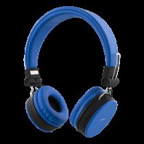 Belaidės ausinės STREETZ sulankstomos, BT 5.0, mėlynos / HL-BT401