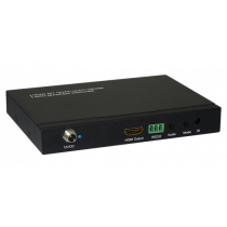 HDMI Kompiuteriu valdomas jungiklis, 4 jungčių, nuotolinio valdymo pultas, 1080p, juodas