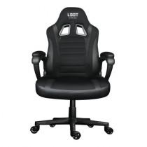 Žaidimų kėdė L33T GAMING ENCORE juoda medžiaga