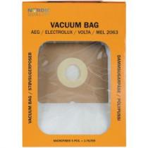 Dulkių maišeliai Nordic Quality MEL2063 AEG 5vnt + 2 filtrai / 358507