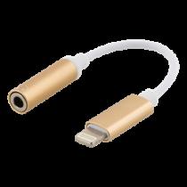 Audio adapteris EPZI Lightning į 3,5 mm, aliuminio korpusas, auksinė / IPLH-590