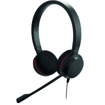 Ausinės JABRA EVOLVE 20 MS Stereo, su mikrofonu, MS Lync, USB, nuotolinis valdymas, juodos / JABRA-304