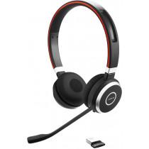 Ausinės JABRA EVOLVE 65 MS Stereo, Bluetooth, NFC, U, juodos / raudonos / JABRA-344