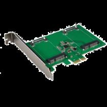Dviguba mSATA SSD PCIe išplėtimo kortelė, 6 Gbps DELTACOIMP žalia / KCSSD2