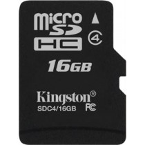 """microSDHC"" 4 klasės ""Flash"" kortelė 16GB ""Single Pack"" su adapteriu Kingston / KING-0461"