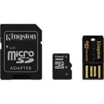 Atminties kortelė, microSDHC, 16GB, USB atminties kortelių skaitytuvas SDHC adapteris  KINGSTON / KING-0585