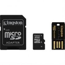 Atminties kortelė, microSDHC, 32GB , USB atminties kortelių skaitytuvas, SDHC adapteris, Class 4  KINGSTON (MBLY4G2 / 32GB) / KING-0589