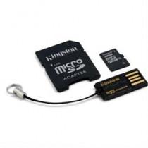 Atminties kortelė, microSDHC, 32GB, USB atminties kortelių skaitytuvas, SDHC adapteris KINGSTON (MBLY10G2 / 32GB) / KING-0602