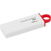 """DataTraveler G4"""", """"USB 3.0"""" atmintis, 32 GB Kingston balta/raudona / KING-1253"""