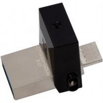 "DT ""MicroDuo"", USB 3.0 atmintis, USB tipo ha - ""Micro-B ha"", ""OTG"", 16GB, juoda / pilka KINGSTON / KING-1444"