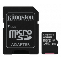 Atminties kortelė Kingston Canvas Select microSDXC, 128GB, su SD kort. adapteriu / KING-2575