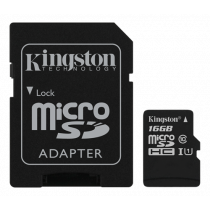 Atminties kortelė Kingston Canvas Select microSDHC, 16GB, su SD kort. adapteriu / KING-2577