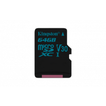 Atminties kortelė Kingston Canvas Go microSDXC, 64GB, juoda / KING-2603