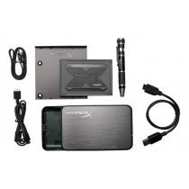 "HyperX Fury RGB SSD Bundle kit, 480GB, 2.5 "", Marvell controller, 550 MB / s write, 480MB / s read, black  / KING-2743"