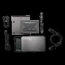 """HyperX Fury RGB SSD, 960GB, 2.5 """", ,,Marvell"""" valdiklis, Rašymo greitis 550 MB/s, skaitymo greitis 480MB/s, Kingston juoda / KING-2744"""