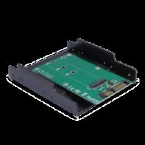 M.2 - SATA adapteris, 3,5 colių plastikinis dėklas, 22pin DELTACOIMP žalia / KT001B