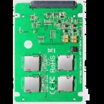 """4x """"Micro SD"""" kortelė į SATA išplėtimo kortelę, RAID 0 palaikymas, 22pin SATA DELTACOIMP žalia / KT037B"""