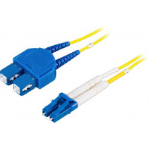 DELTACO optinis kabelis , LC - SC, 9/125, OS2, duplex, single mode, 10m / LCSC-10S