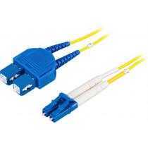 DELTACO optinis kabelis , LC - SC, 9/125, OS2, duplex, single mode, 2m / LCSC-2S