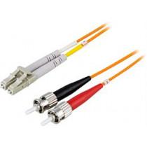 Optinis kabelis OM1, LC - ST, dvipusis, UPC, 62,5 / 125, 2m DELTACO oranžinis / LCST-2M