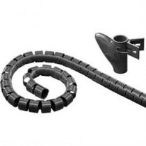Nailono vamzdis, 25 mm skersmens įrankis, 5 m DELTACO juodas / LDR11