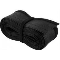 Nailono kabelių įvyniojimas, lipnus užsegimas 5m, DELTACO juodas / LDR19