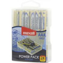 """""""Maxell"""" baterijos, AAA (LR03), šarminis, 1,5V, 24-pak / LR03-24"""