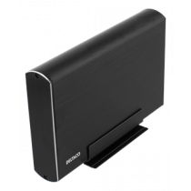 "HDD dėžutė 1x3,5"" SATA HDD, USB-C, USB 3.1 Gen 2 DELTACO black / MAP-GD39C"