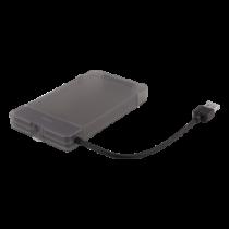 """2,5 """" HDD / SSD dėžutė, USB 3.1 Gen 1, SATA 3.0, UASP, juoda DELTACO / MAP-K104"""