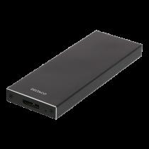 DELTACO išorinis HDD M.2 korpusas, B, B & M, USB 3.1 Gen 1, SATA III, juodas MAP-K16N
